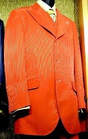 3 Piece Fashion Suit Orange