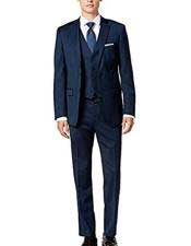 Groomsmen Suits Alberto Nardoni Suit Midnight Blue Slim Skinny European fit Vested