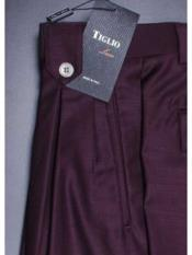 Mens Burgundy Wide Leg