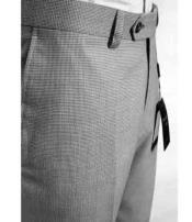 Mens Tiglio Luxe Wool Italian Checked Flat Front Dress Pant