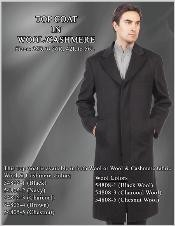 Coat in Wool/Cashmere Black