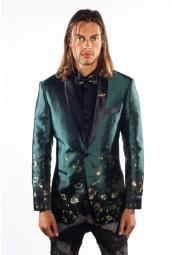 Mens Flashy Shiny Sequin Blazer ~ Sport Coat Turquoise