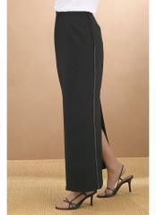 Polyester Tuxedo Skirt Black