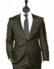 Button Alberto Nardoni Vested 3 Pieces Summer Linen Wedding/Groom/Groomsmen Suit Jacket & Pants & Vest Chocolate Dark