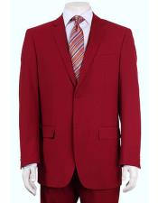 Vitali  Authentic 2 Button Red Slim Fit Suit