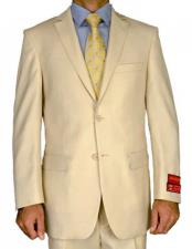 Beige Mens Two Button