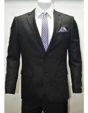 Mens Linen Notch Lapel 2 Button Single Breasted Side Vent Black Jacket Sportcoat Blazer