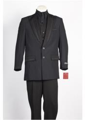 Button Suit Black Blue