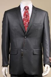 Button Suit New Edition Shiny Flashy Sharkskin Black