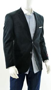 Two Button Sport Jacket Blazer Coat Corduroy Side Black Also available
