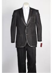Button Suit Black