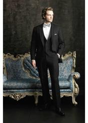 Mens 2 Button With Satin Trim Allure Men Tuxedo Suits Tuxedos Black