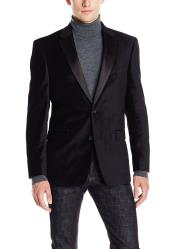 Cheap Priced Black Big And Tall Blazers Clearance Velvet ~ Mens blazer