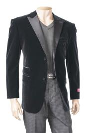 Black Mens Big And Tall Blazers Velvet ~ Velour Clearance Cheap Priced