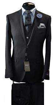 Italian Slim Fit Suit & Vest