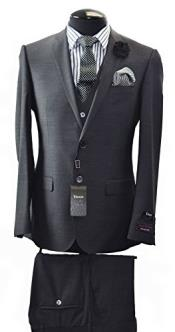 Italian Two Button Slim Fit Suit & Vest