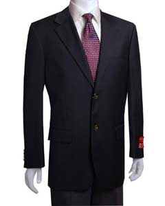 2-Button Black Wool Jacket/Cheap