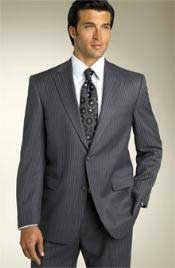 2BV Expensive Mini Track stripe ~ Pinstripe Two Button Modern Fit