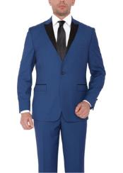 ~ Bright Blue ~ Cobalt ~ Teal Blue with black lapel