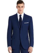 Mens Blue best Suit buy one get one suits free slim Suit