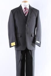 Mens Two Button Elegance And Comfort 5 Pcs Boy Dress Suit Perfect