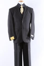 Slim Cut Two Button French Zip fly Dress Suit For Mens