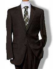 Button Brown Pinstripe Cheap