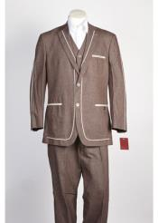 Button Suit Brown