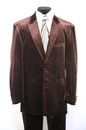 Velvet Brown Peak Lapel Zoot Suit