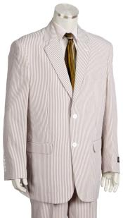 Pinstripe Quad DOne Chest Pocket Brown Zoot Suit