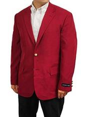 Mens 2 Button Burgundy ~ Wine ~ Maroon Color Single Breasted Notch Lapel Classic Cut Sportscoat Blazer