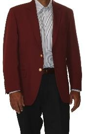 Two Button Cheap Unique Dress Blazer Jacket For Men Sale Wool Blend Burgundy ~ Maroon ~ Wine