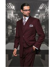 Confidence Mens Burgundy ~ Wine ~ Maroon Color Wine 2 Button