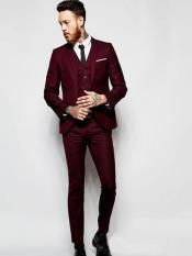Burgundy ~ Wine ~ Maroon Color ~ Maroon Slim or Regular