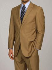 Giorgio Fiorelli Camel 2-Button Single Breasted Double Vent Modern Fit Suit