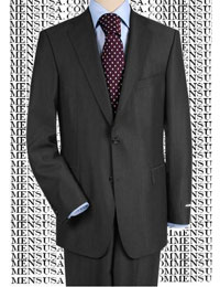2BW9 High-Quality Construction Two-Button Darkest Charcoal Gray Super 150 Fine Wool