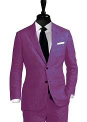 Linen Fabric Suit 2 Button suit By Alberto Nardoni