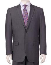 Mens Vitali  Authentic 2 Button Charcoal Slim Fit Suit - Color: