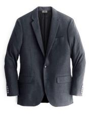 Charcoal One Chest Pocket Cashmere & Wool Blazer
