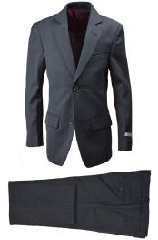 Wool Blend Suit Charcoal