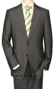 Construction Two-Button-2 Button Pinstripe Charocoal Gray Shadow Mini Stripe ~ Pinstripe