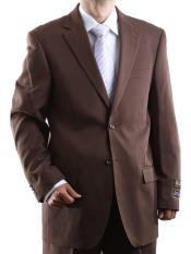 Bolzano Mens 100% Polyester Fully Lined 2 Button Single Breasted Dress Suit