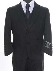 Formal 3 piece 2 Buttoned Suit Black