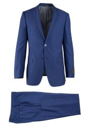 French Blue Novello 2 Button Wool Modern Fit Luxe Fine Brands