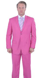 Colorful Fuchsia ~ Fuschia ~ Hot Pink Mens Cheap Priced Business Suits