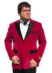 Mens Cheap Priced Velvet ~ Velour Clearance Fuchsia Big And Tall Blazers