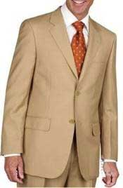 Two Button Cheap Priced Business Suits Clearance Sale - Gold ~ Bronze ~ Camel ~ Birtish Khaki