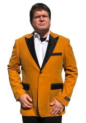 Mens Cheap Gold Velvet ~ Velour Clearance Big And Tall Blazers Blazer / Sport Coat