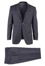 Novello Wool Gray Birdseye Two Button Modern Fit Luxe Fine Brands