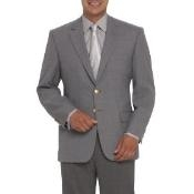 Button Vented Gray ~ Grey Cheap Unique Dress Blazer For Men
